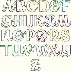4 Best Images of Script Fonts Alphabet - Bubble Letter Cursive Fonts Alphabet, Fancy Letters Alphabet and Feel Script Font Alphabet Stencil Lettering, Doodle Lettering, Creative Lettering, Lettering Styles, Doodle Fonts, Font Styles, Lettering Tutorial, Brush Lettering, Doodle Art