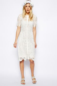 17 Non-Bridal Dresses For The Low-Key Bride #refinery29  http://www.refinery29.com/wedding-dress-search#slide11