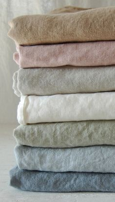 linen in soft shades