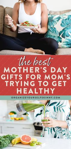 If you are looking for some amazing mother's day gift ideas, this gift guide is for you! Here is a whole list of the best healthy gifts for mom. All of these ideas are centered around someone working towards creating a healthier lifestyle in general or losing weight. Organize Yourself Skinny | Fitness Gifts | Health Gifts | Mother's Day Ideas | How To Be Healthy | Health and Wellness | Wellness Tips | Meal Prep for Beginners | Healthy Eating | Healthy Lifestyle Healthy Eating Grocery List, Healthy Freezer Meals, Healthy Eating Habits, Healthy Living Tips, Get Healthy, Healthy Lifestyle Changes, Healthy Lifestyle Motivation, Wellness Tips, Health And Wellness