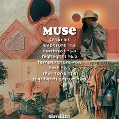 """muse"" here is a dark peachy filter for you. this filter goes . - lamps Diy - ""muse"" here is a dark peachy filter for you. this filter goes … - Photography Filters, Vsco Photography, Photography Editing, Photography Ideas, Vsco Filter, Vsco Cam Filters, Feed Vsco, Vsco Effects, Photo Lovers"
