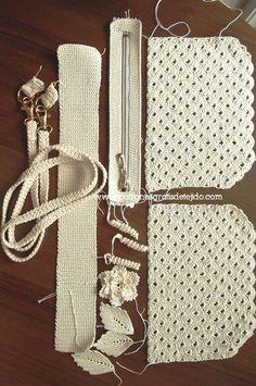 Cómo hacer una cartera de gala al crochet / Tutorial DIY   Crochet y Dos agujas