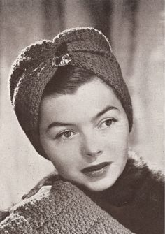 Vintage Crocheted Turban Hat (head wrap) PATTERN. I like this... I couldn't make it... but maybe my mom will :) haha