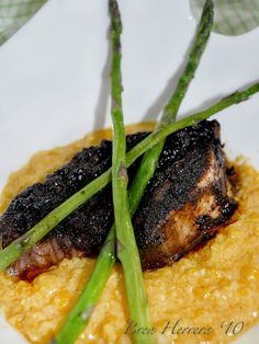 Ancho Chile & Cilantro Short Rib with Sweet Corn Purée