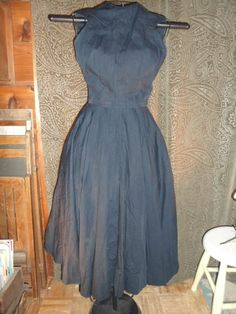 "Vintage 1950's Designer ""Anne Fogarty"" Blk. Dress Size Small Excellent Cond! #AnneFogarty"