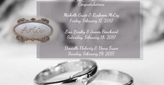 Congratulations to these three beautiful couples who shared their special day with us this past weekend!