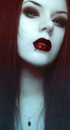 "miss-obsolete: ""Model: Alfia Andais Ibragimova. Goth Beauty, Dark Beauty, Gothic Horror, Horror Art, Seductive Makeup, Vampire Pictures, Stunning Eyes, Beautiful, Gothic Hairstyles"