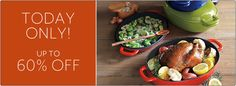 Sale Today Only! Get up to 60% discount on cast iron products at #SurLaTable