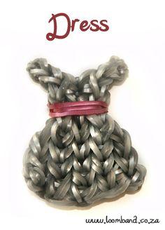 Dress Loom Band Charm Tutorial