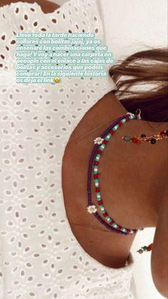 Seed Bead Jewelry, Bead Jewellery, Cute Jewelry, Jewelry Crafts, Beaded Jewelry, Beaded Bracelets, Homemade Necklaces, Homemade Jewelry, Surf Necklace