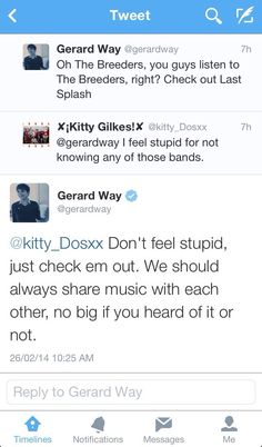 Gerard Way, love his chill and kind and loving attitude about this situation