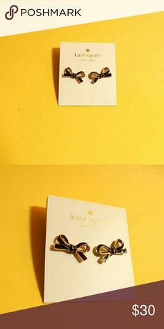 NWT KATE SPADE MINI BOW STUDS Brand new Kate Spade studs with original tag Comes with dust bag Size: • Weight: 3g • 0.4 in H x 0.75 in W Features: • Shiny 12-karat gold plated hardware Bundle 2+ items to save shipping fee Kate Spade Jewelry Earrings