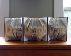 Live Laugh Love  Art  Home Decor  Folded Book door LucianaFrigerio