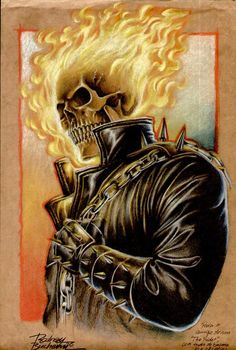 Ghost Rider 2 by ~Buchemi Comic Book Characters, Comic Book Heroes, Marvel Characters, Comic Character, Ghost Rider Johnny Blaze, Ghost Rider Marvel, Ghost Rider 3d, Ghost Rider Drawing, Marvel Comics Art