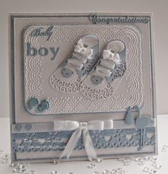 pamscrafts: Baby Girl and Boy Booties.