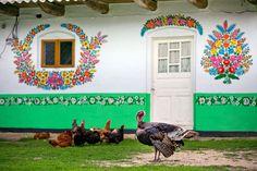 Zalipie specific ornamentation tradition. by Zalipie, via Flickr