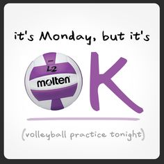Case of the Mondays?  Cheer up! There's always #volleyball... #MotivationMonday