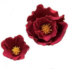 Fantasy Gumpaste Flowers - make these with a heart shape cutter.  ~ Polymer Clay Flowers