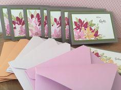 Gartengrüße als Kartengrüße - Stempeln mit StampinUp!