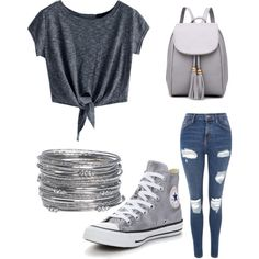 A fashion look from August 2017 featuring Topshop jeans, Converse sneakers and Avenue bracelets. Browse and shop related looks.
