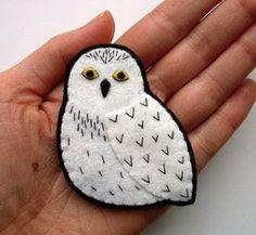 ✄ A Fondness for Felt ✄ DIY craft inspiration - snowy owl felt craft by evica
