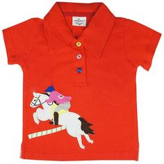 Kidswear Singapore @ Honey & Clover | Jockey Polo Tee in Red by Jumping Beans