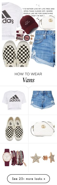 """Untitled #408"" by sassymermaid on Polyvore featuring Nobody Denim, Vans, Topshop, Gucci, True Craft and Bee Goddess"