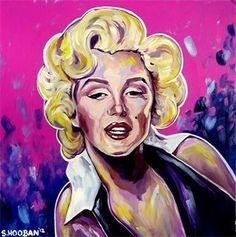 """The Bombshell (Marilyn Monroe)"" 24x24"" acrylic on canvas"