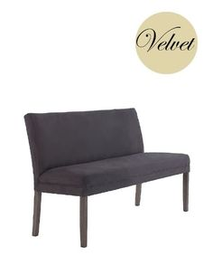 This is the velvet version without arms of our fabulous banquette seats upholstered dining benches - a comfortable and stylish alternative to Upholstered Dining Bench, Dining Sofa, Sofa Bench, Banquette Seating, Table Seating, Grey Walls, Interior Styling, Velvet, Ranch Kitchen