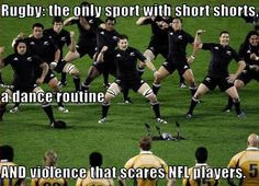 The All Blacks (I'm pretty sure) is my mom's favorite rugby team!