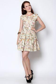 Wisteria — Natalie Floral Spring Dress SGD $32 (bought)