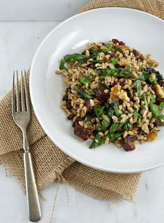Vegan Farro and Roasted Sweet Potato Salad with Pine Nuts and Tahini ...