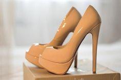 Beige high #heel shoes