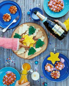 Can't resist this brunch spread and Chandon bubbly.