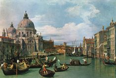 """""""The Grand Canal at the Salute Church"""" - Canaletto"""