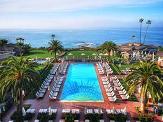 Montage Laguna Beach:  Laguna Beach, California      Laguna Beach, California. Lunch on the terrace in Dec. with this view.