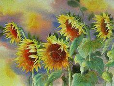 MISA - Madeline Island School of the Arts - Karlyn Holman Gallery Watercolor Flowers, Watercolor Paintings, Adult Crafts, Beautiful Islands, Sunflowers, Art Boards, Watercolors, Florals, Card Ideas