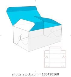 Box with Auto-lock Flip-flops and Die-cut Pattern Cardboard Boxes With Lids, Diy Paper, Paper Crafts, Applications Mobiles, Paper Box Template, Cardboard Design, Illustrator, Box Patterns, Diy Gift Box