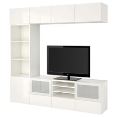 BESTÅ, TV-Komb. mit Vitrinentüren, weiß Jetzt bestellen unter: https://moebel.ladendirekt.de/wohnzimmer/tv-hifi-moebel/tv-waende/?uid=07df4cc6-b961-52e1-8f54-11a1a6d7b82e&utm_source=pinterest&utm_medium=pin&utm_campaign=boards #tvwaende #wohnzimmer #tvhifimoebel