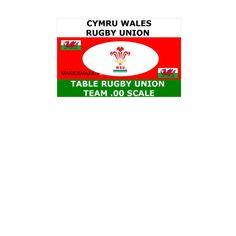 Table Rugby Union Maxies Team Box Wales Cymru (Subbuteo)