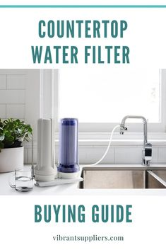 The countertop water filter is the best and cheapest way to filter drinking water on your kitchen sink top. But what do you look for when you want to buy one. Find out countertop water filter buying guide Whole House Water Filter, Best Water Filter, Water Filter Pitcher, Water Filters, Under Counter Water Filter, Countertop Water Filter, Reverse Osmosis Water System, Alkaline Water Filter, Stainless Steel Countertops