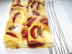 Tvarohovo-slivkový koláč (fotorecept) - Recept