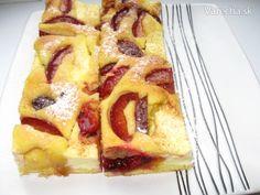 Tvarohovo-slivkový koláč (fotorecept)