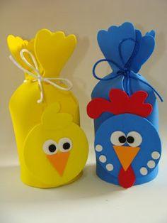 Artesdaka                                                                                                                                                                                 Mais Kids Crafts, Preschool Crafts, Felt Crafts, Easter Crafts, Diy And Crafts, Pot A Crayon, Ideas Para Fiestas, Coq, Childrens Party