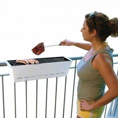 Balcony Grill Bruce - perfect for apartments, patios, balcony's, small spaces #BBQ #grill