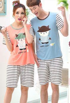 CC01039 Homewear cartoon summer couple clothes unisex cheap pajamas Couple Outfits, Couple Clothes, Summer Couples, Diy Arts And Crafts, Cheap Clothes, Pyjamas, Nightwear, Unisex
