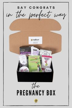 The Pregnancy Box gives an expecting mama the must-have products to feel comfortable, relieve morning sickness, and relax during her pregnancy. #mamagear #pregnancykit #pregnancyjourney #pregnancygear #firsttrimester #pregnancykit #pregnancytips #pregnancyessentials #pregnancymusthaves #needitemsforpregnancy