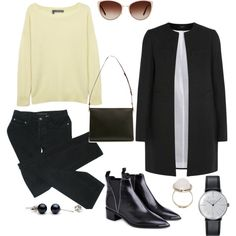 seriously by missmadame on Polyvore featuring moda, 360 Sweater, Joseph, MARC BY MARC JACOBS, Acne Studios, Marni, Klein & more, Boohoo and Oliver Peoples