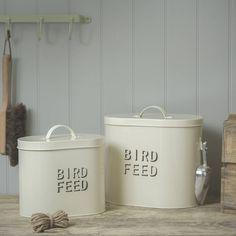 Bird Feed Enamel Storage Tin