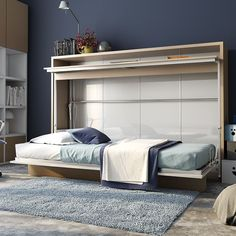 """Found it at AllModern.com - Genio Twin Murphy Bed $2,699.99 Out of Stock - 3/29/16 Overall: 54.4"""" H x 81.5"""" W x 51.5"""" D Weight: 418.5lbs"""